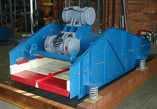 Horizontal linear motion dewatering screens